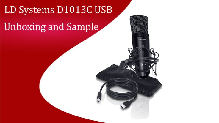 LD Systems D1013C USB Unboxing