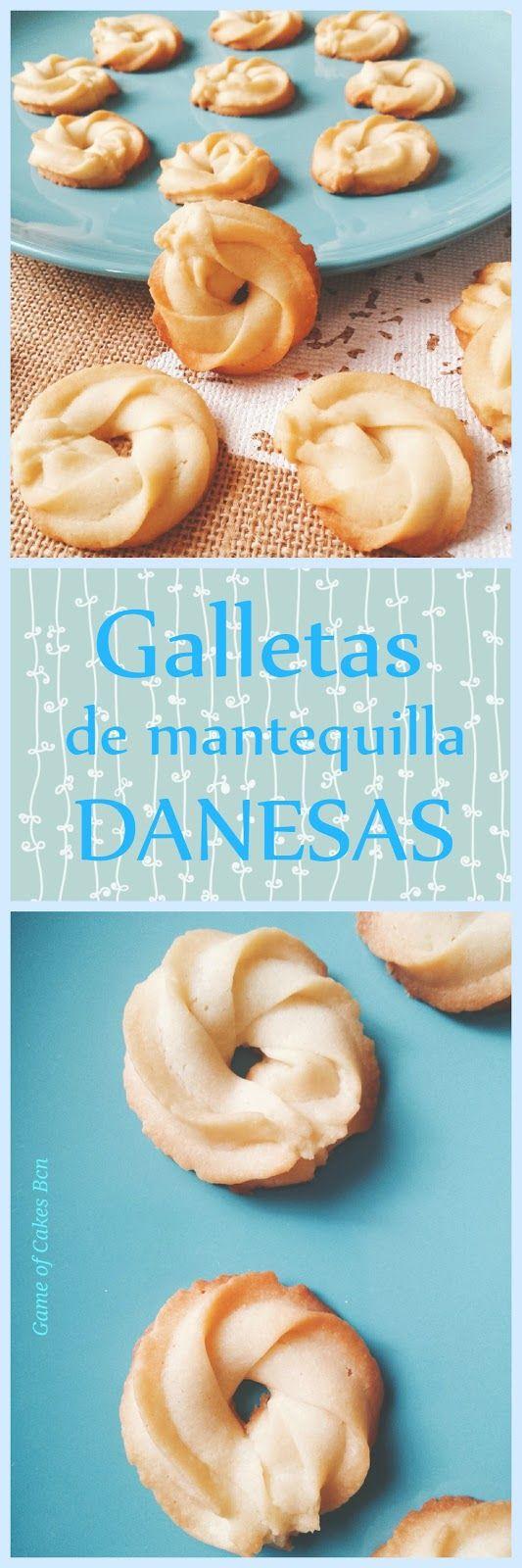 Galletas de mantequilla tipo danesas, pastas de té Game of Cakes Bcn #receta #galletas #danesas