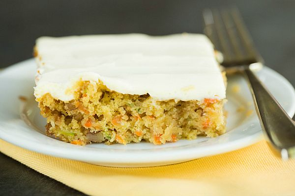 Carrot-Zucchini Bars with Cream Cheese Icing by @Michelle (Brown Eyed Baker)