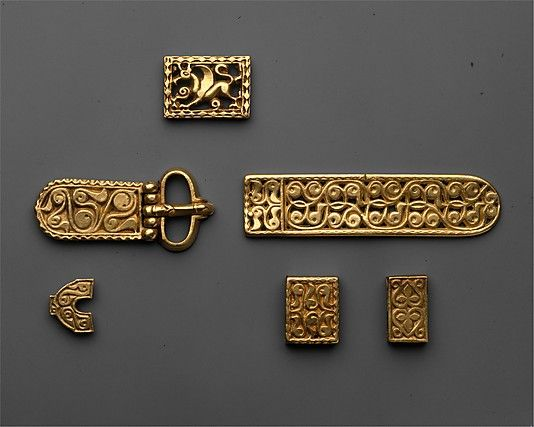 Avar Belt Fittings, 8th Century
