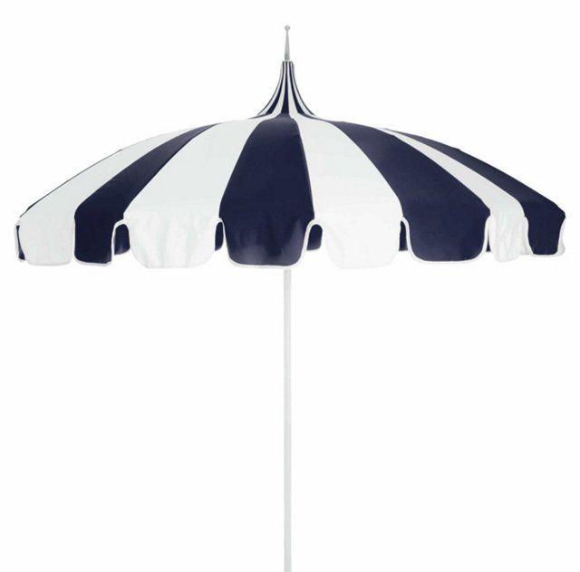 Pagoda Patio Umbrella, Navy/White