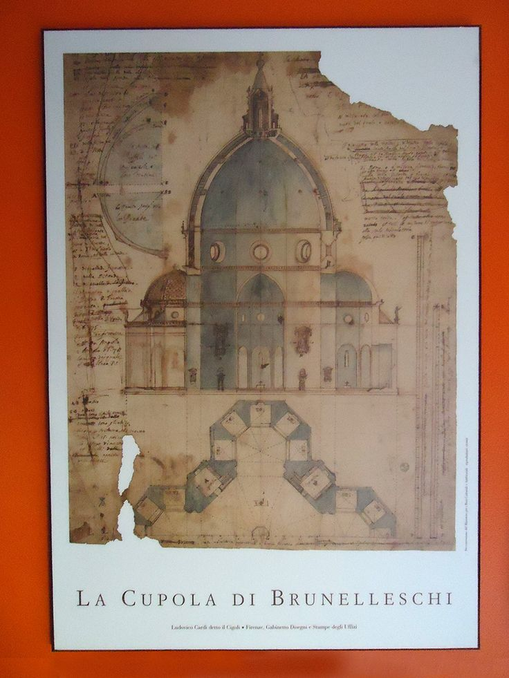 My wife bought this print of a Brunelleschi blueprint for me when we were in Florence, Italy.
