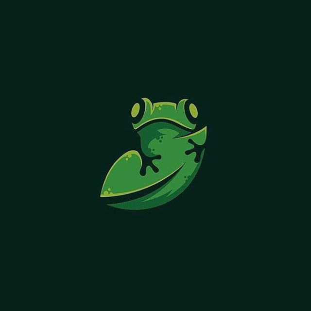 Logo inspiration: Frog n leaf design made by @rendycemix Hire quality logo and branding designers at Twine. Twine can help you get a logo, logo design, logo designer, graphic design, graphic designer, emblem, startup logo, business logo, company logo, branding, branding designer, branding identity, design inspiration, brandinginspiration and more.