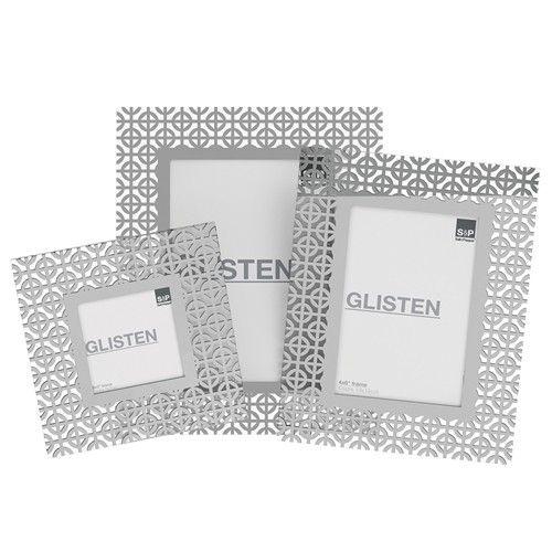 Salt & Pepper Glisten S/3 Silver Glass Photo Frame Set