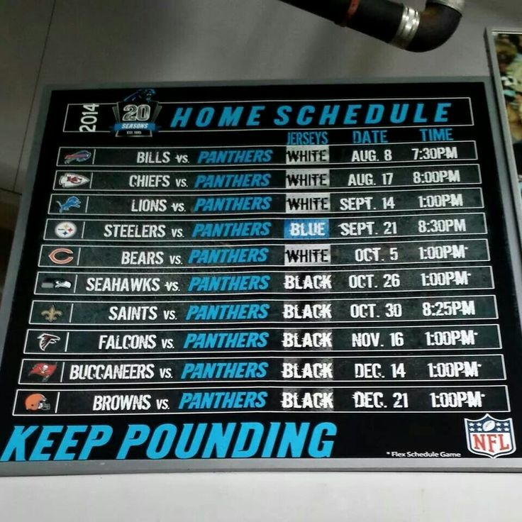 1000+ ideas about Carolina Panthers Football Schedule on ...