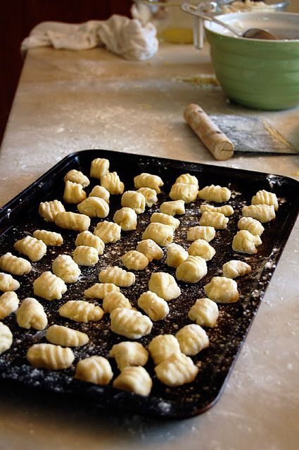 Homemade Gnocchi Made with leftover mashed potatoes