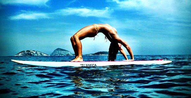 ➰Namasté. (I) On the water: Yoga Body Rio is also offering a three-day yoga and surf break for women in Buzios. #yoga #yogapose #meditation #namaste #om