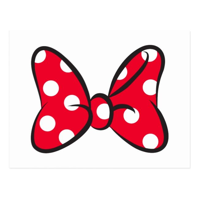 Create Your Own Postcard Zazzle Com Minnie Mouse Printables Red Minnie Mouse Minnie Mouse Bow