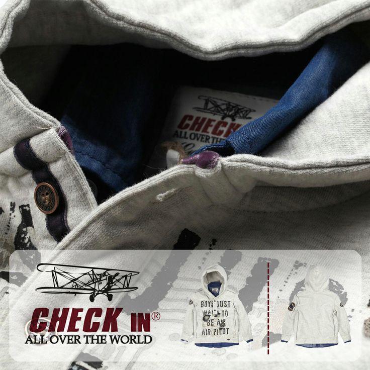 Özel tasarımlı Check In Kapüşonlu Sweatshirt büyüyünce pilot olmak isteyenlere özel :) Beğendiniz mi?