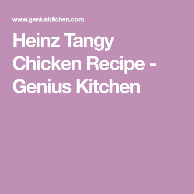 Heinz Tangy Chicken Recipe - Genius Kitchen