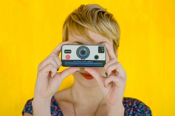 polaroid iphone decal
