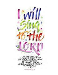 I will sing to the LORD-shadow copy | by marthalever