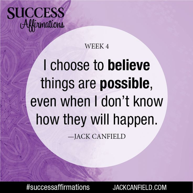 Always believe things are possible, and release negative beliefs and statements that limit you. Create new, positive statements that tell you your ideal future is possible, and it will happen. #successaffirmations