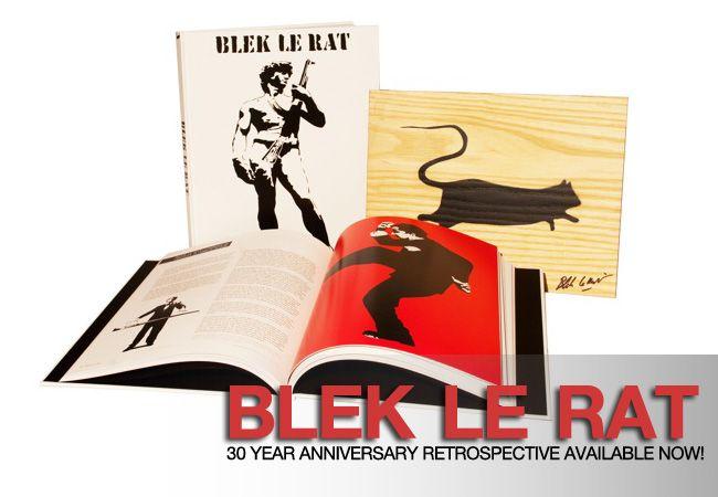 """Blek le Rat Xavier Prou o Blek le Rat es un artista de graffiti parisino (Francia) que después de aprender la técnica de """"pochoir"""" (Plantilla) en la Escuela de Bellas Artes, influenciado por el stencil propagandístico de Mussolini y el graffiti que vio en el metro en un viaje a Nueva York, plasma en las calles de París su obra desde 1983.  Tras dibujar con esta técnica tanques de guerra, ratas, figuras humanas... por toda la ciudad, la fama le llega cuando se expone su obra en el centro…"""