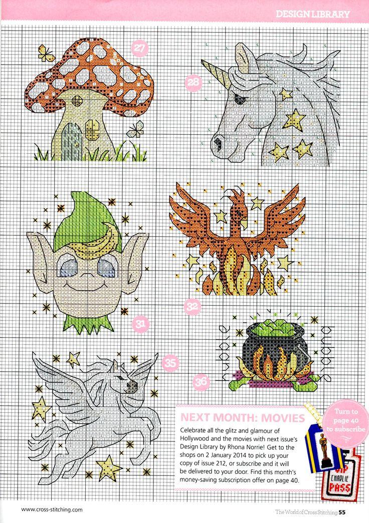 cross stitch - fantasy motifs (6/6)