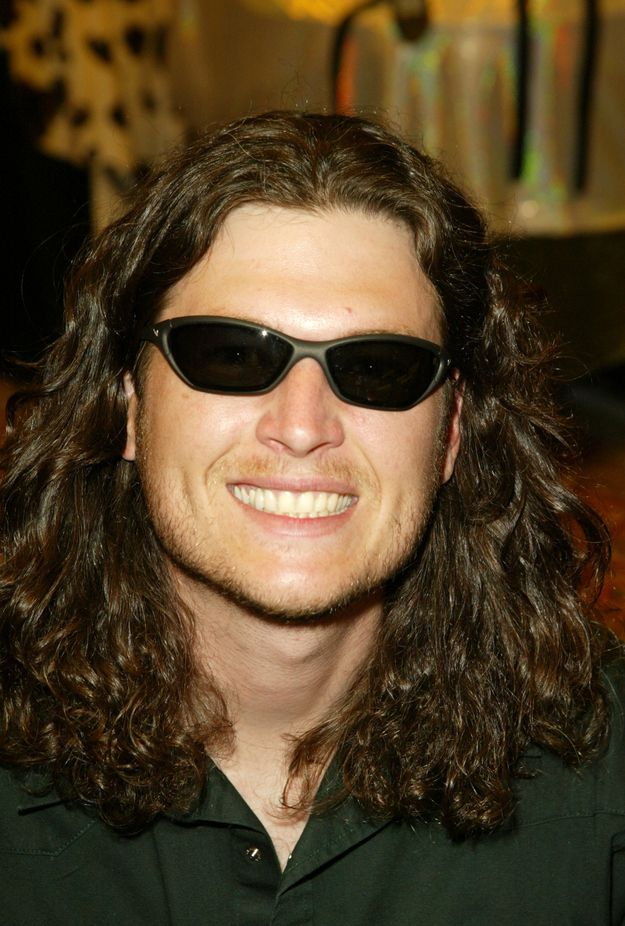 Lmao- the evolution of Blake Sheltons hair  2003: Oh god, this is a very very dark moment in Blake Shelton hair history. He looks like a college kid at his first Rusted Root Concert.
