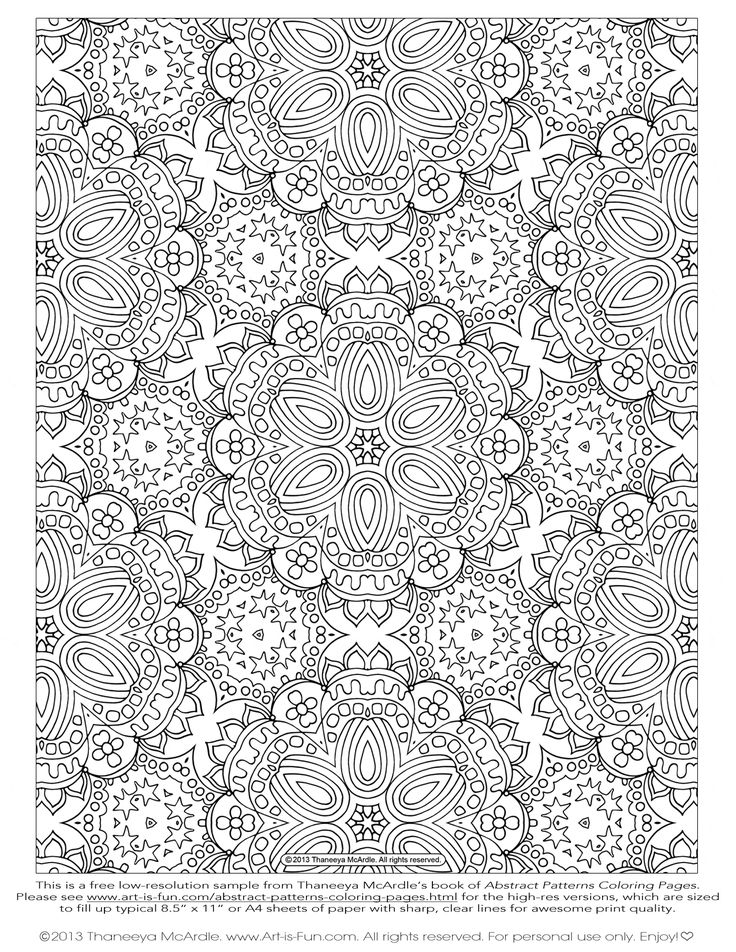 free abstract pattern coloring page by thaneeya mcardle - Coloring Pages Abstract Designs