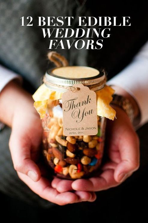 Instead of giving guests wedding favors that will end up in a drawer collecting dust, why not give them something they can really sink their teeth into? Check out these 12 best edible wedding favors: http://www.colincowieweddings.com/food-and-drink/12-best-edible-wedding-favors
