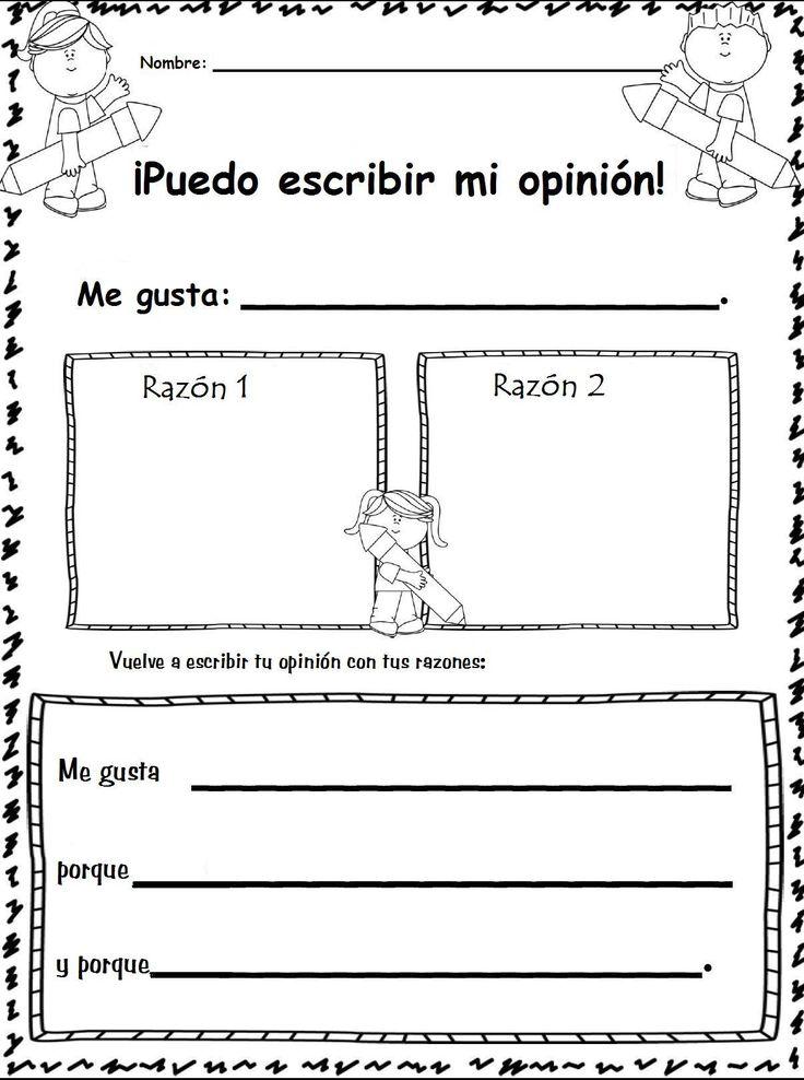 Organiza tu opinión. Iniciación. Adaptación. Original en inglés en este mismo tablero.