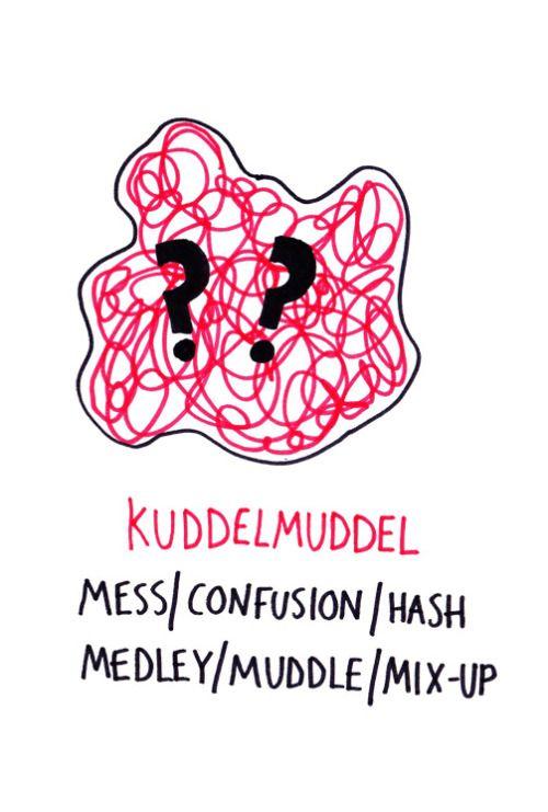 Cute illustrations of German phrases/words