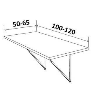 tavolo pieghevole a muro per cucine e soggiorno Telkì Kitchen - NTC