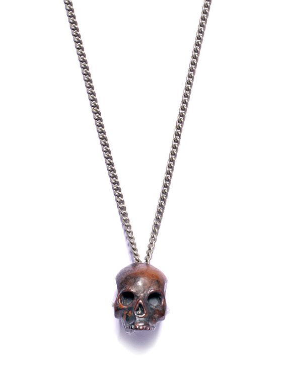Men's+Jewelry++Torched+Skull++Handmade+steampunk+by+weareallsmith