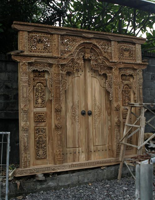 Balinese/Javanese Front door. Will have this in my house someday!!