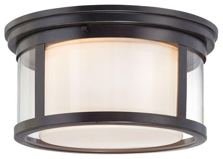 Perfect Quoizel Wilson 2 Light Wide Flush Mount Ceiling Fixture With Glass S  Palladian Bronze Indoor Lighting Ceiling Fixtures Flush Mount