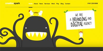 17 Yellow Websites - InspirationTime - a Gallery of Beautiful Web Design
