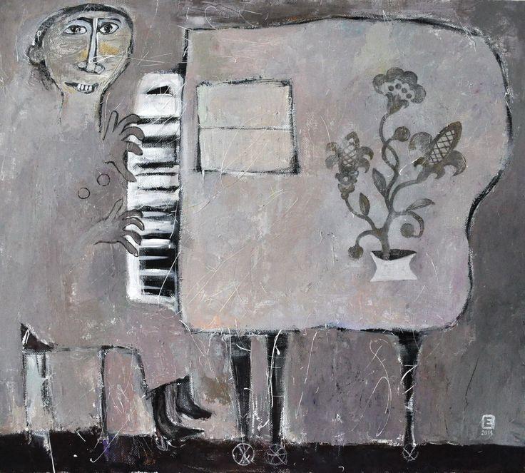 """Приобретайте картину на сайте www.d-mansion.ru """"Из жизни одного рояля"""" 80х90см Жанр: примитивизм  Материалы: холст, акрил 2011 г."""