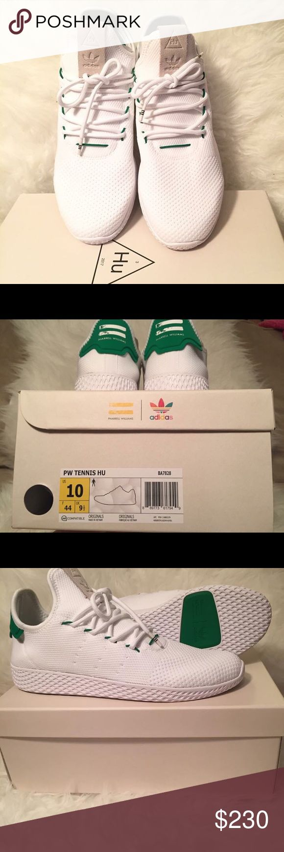 Pharrell Williams tennis HU Primeknit Shoes Pharrell Williams tennis HU Primeknit Shoes size men us10 uk9.5  New : Come with box Sold out in store Adidas Shoes Sneakers