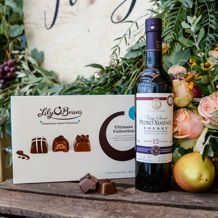 """This 'pudding wine' made from the very sweet, rich, dark sun-dried Pedro Ximinez grapes has a scent of coffee liqueur and sumptuous sticky toffee and prune flavours; so when combined with the Macchiato chocolate, there is an explosion of coffee flavours and a strong suggestion of scrumptious fruit cake. Scrunchy and munchy, yum..."""