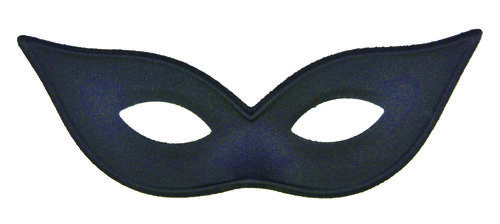Harlequin Mask Satin Black