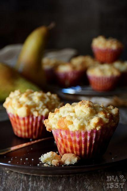 Ina Is(s)t: Birnen-Käsekuchenmuffins mit Vanille / Cheesecake Muffins with Pear…