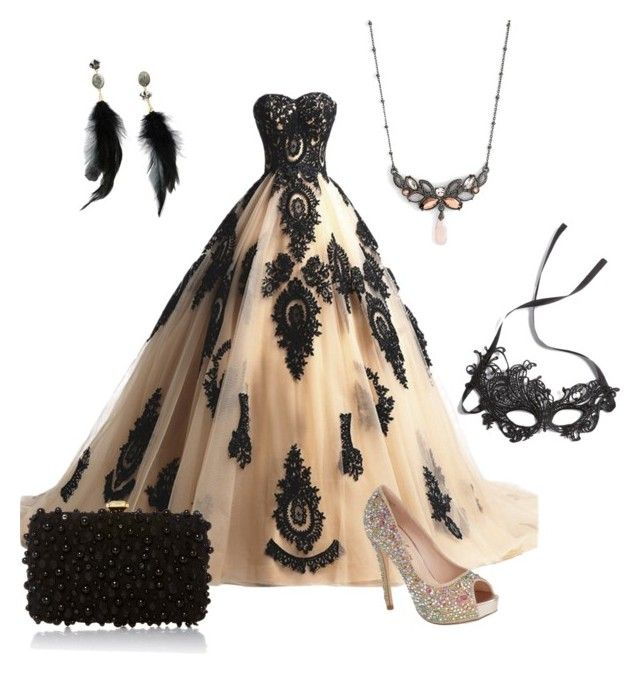 """""""Doris Prom Dress"""" by lana-redway on Polyvore featuring Jenny Packham, Betsey Johnson, Elie Saab, Lauren Lorraine and Cara"""