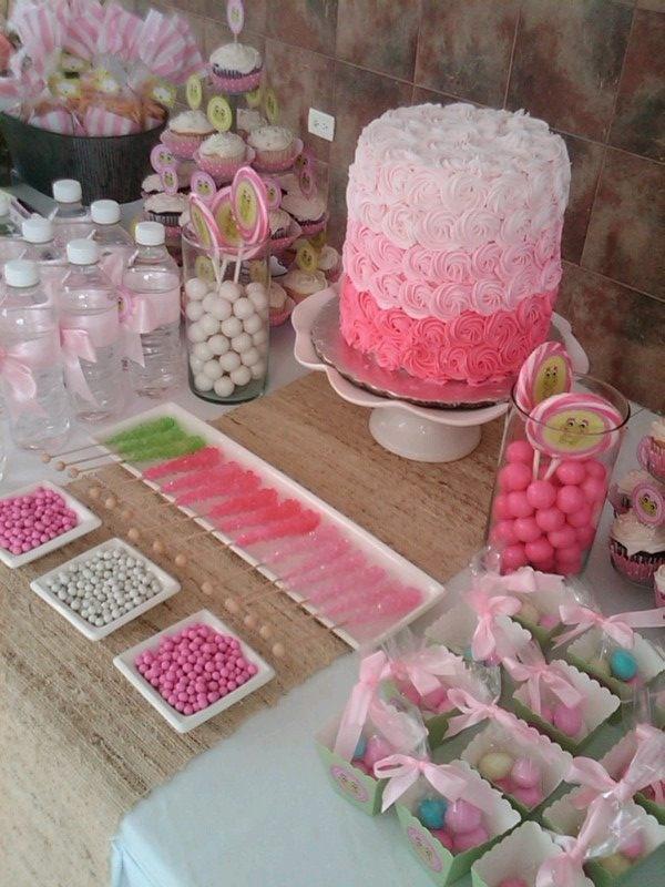 Pink #cake! Hermoso pastel para bautizo o #babyshower ideal!