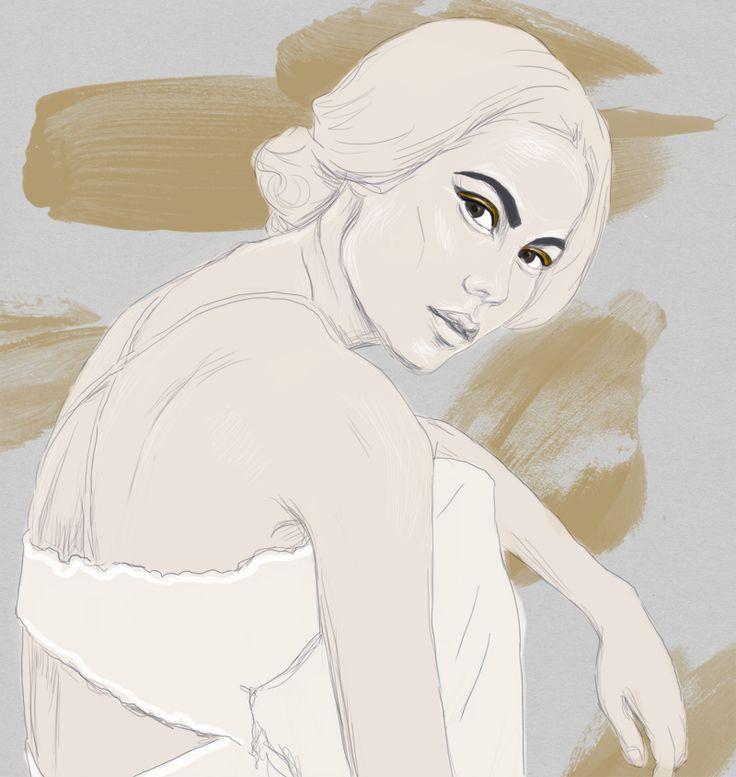 CHANEL  Digital artwork by Phaedra Seven.  #chanel #olive #thomas #illustration #drawing #art #sketch #painting