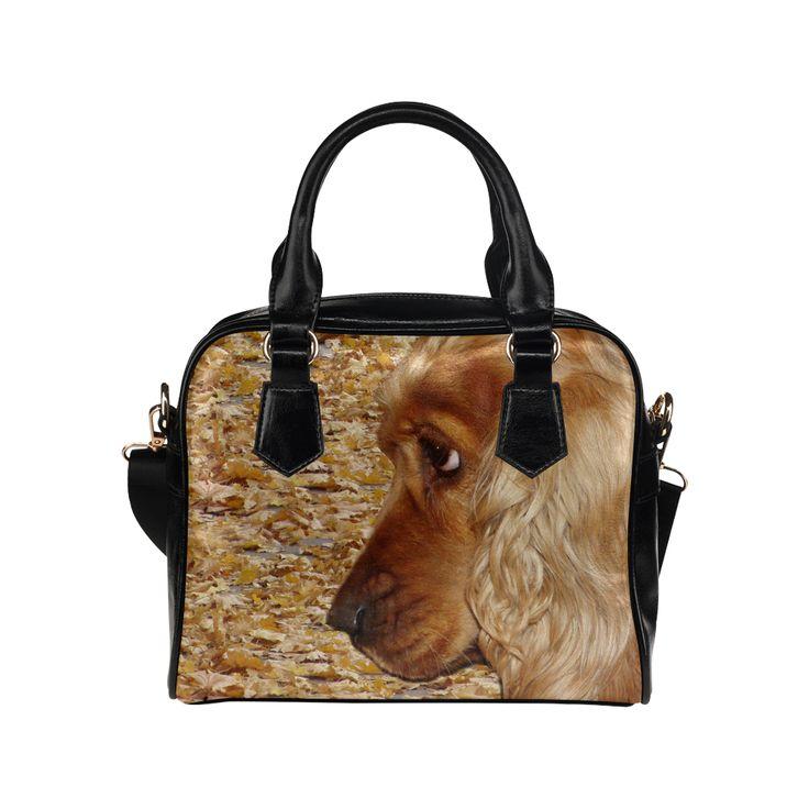 Dog Cocker Spaniel Shoulder HandbagHandbag. FREE Shipping. #artsadd #handbags #dogs