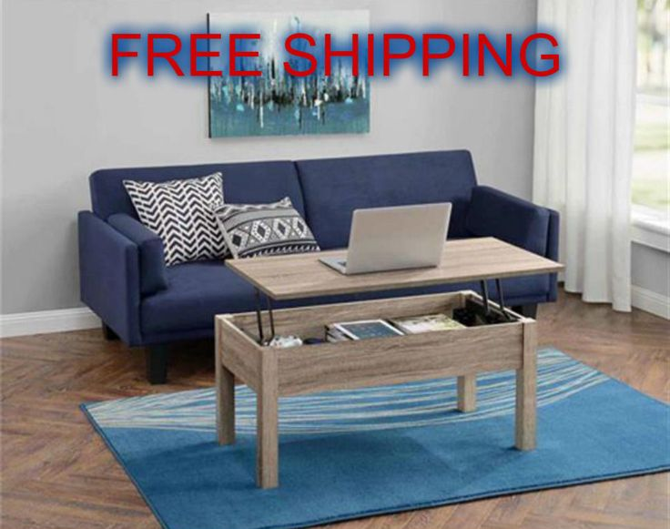 Dining Coffee Table Lift Top Multi Functional Storage Space Wood Rectangle New Contemporary