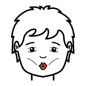 Limpiarse los dientes con la lengua en forma de círculo