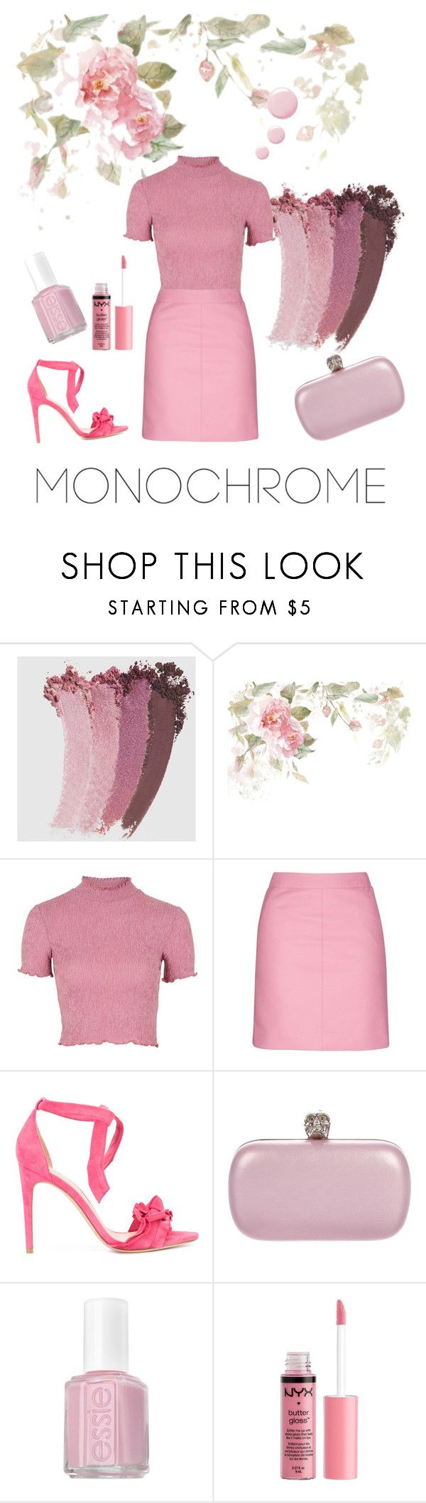 """""""Pinky pink 💞"""" by angel000 on Polyvore featuring Gucci, Topshop, Alexandre Birman, Alexander McQueen, Essie, Charlotte Russe, Pink, like, pinky and colorchallenge"""