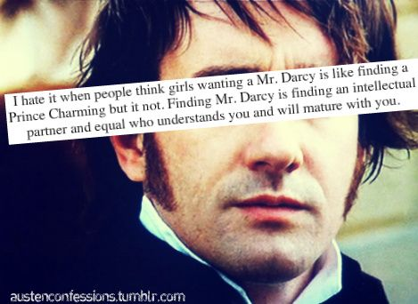 Love this! Neither Mr. Darcy or Elizabeth were perfect, but they grew to love each other, and grow together.