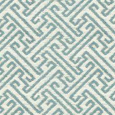 Beige/Light Blue Asian Drapery and Upholstery Fabric by Kravet