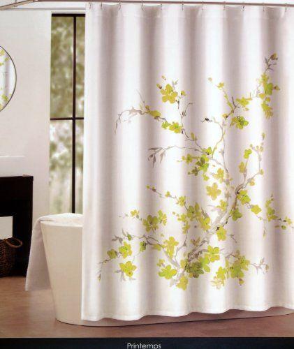 Shower Curtain Fabric Tahari 72 X 72 Spring Printemps