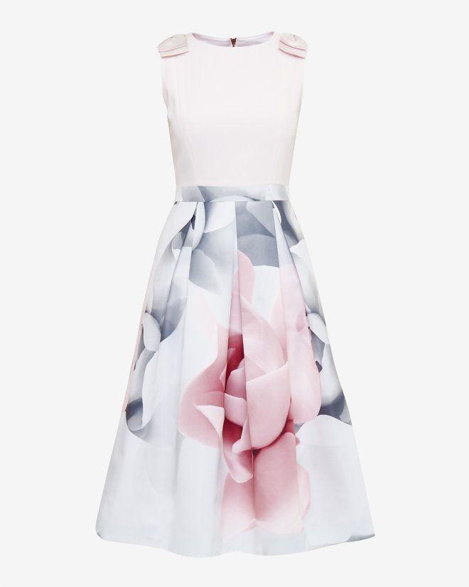 Porcelain Rose bow dress - Ecru | Dresses | Ted Baker UK