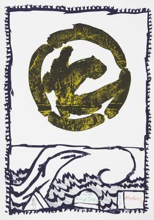 Galerie Lelong - Estampes - Pierre AlechinskyPour Michel Butor 2010 Lithographie 80 x 58 cm