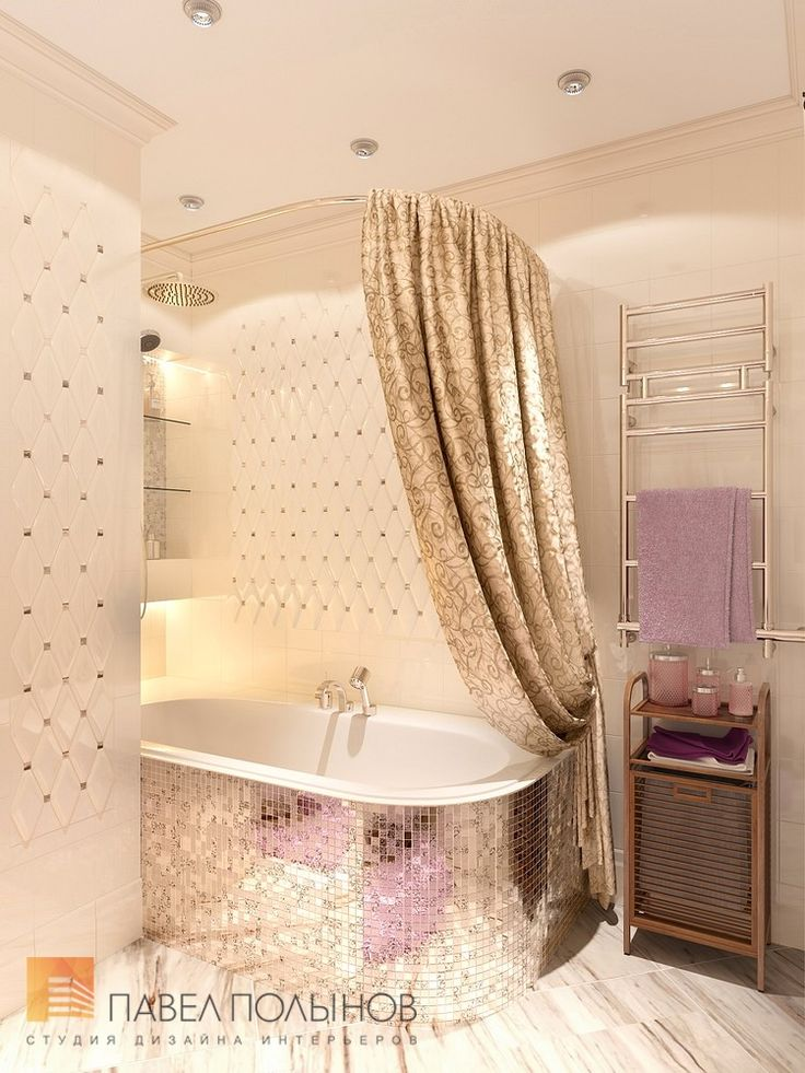 Фото дизайн ванной комнаты из проекта «Дизайн 4-комнатной квартиры 162 кв.м. в ЖК «Платинум», стиль неоклассика»