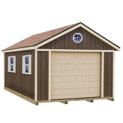 Sierra 12 ft x 24 ft wood garage kit with sturdy built for 24 per 24 kit di garage