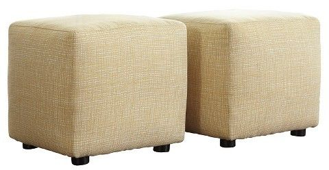 Signature Design by Ashley Chamberly Cube Ottoman Buttercup (Set of 2)