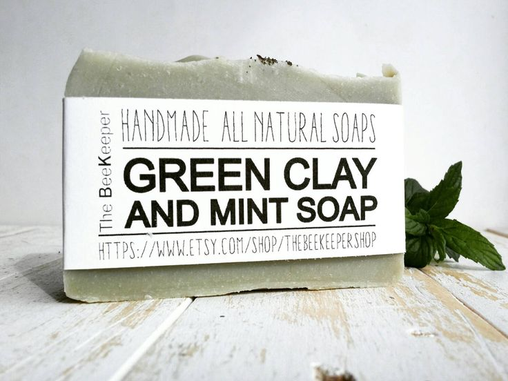 Green Clay Soap, Peppermint Soap, Acne Soap, Cold Process Soap, Palm Free Soap, Clay Soap, Fragrance Free Soap, Herbal Soap, Green Clay by TheBEEKEEPERshop on Etsy https://www.etsy.com/listing/195285124/green-clay-soap-peppermint-soap-acne